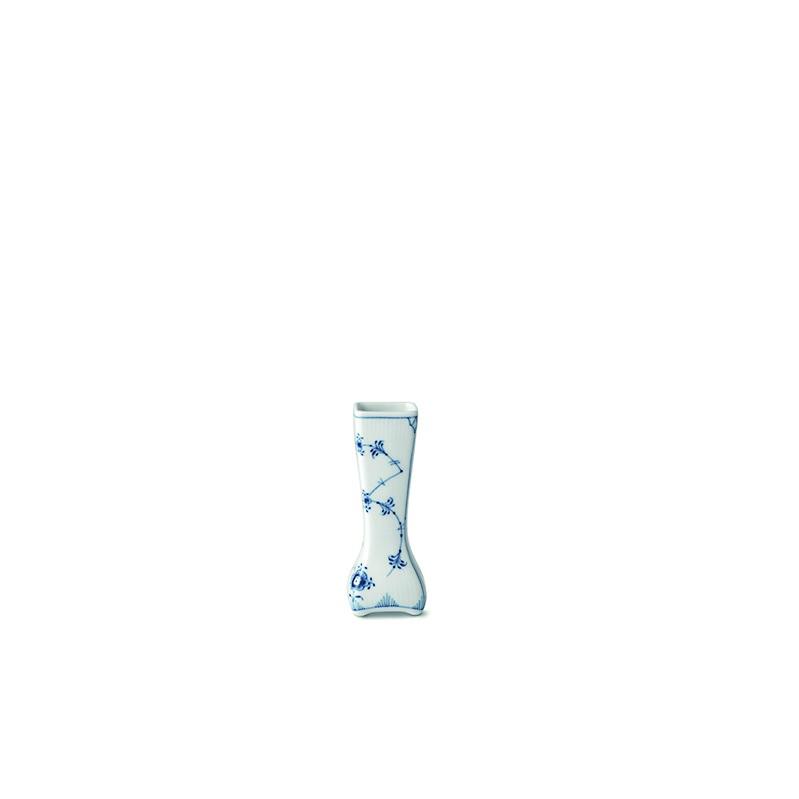 Royal Copenhagen Musselmalet Riflet vintage vase, 12 cm