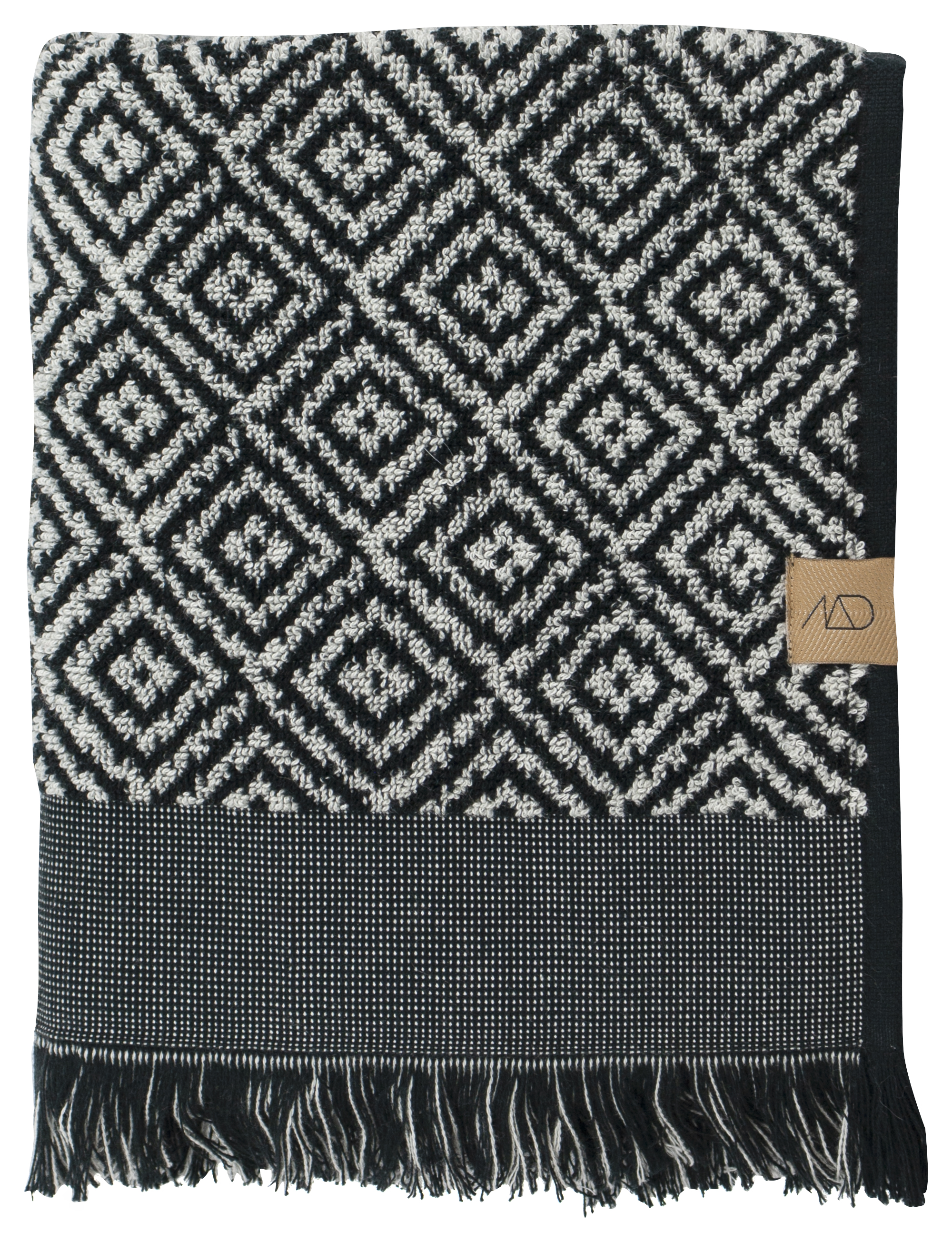 Mette Ditmer Morroco håndklæde, sort/hvid
