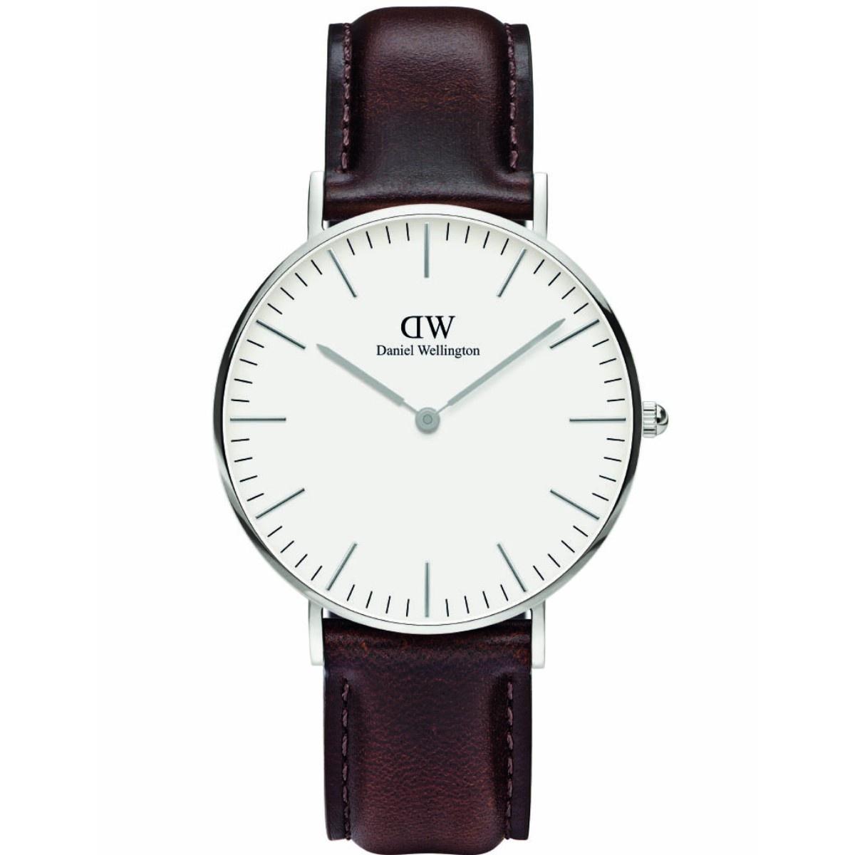 Daniel Wellington Classic Bristol ur, 36 mm, white/steel