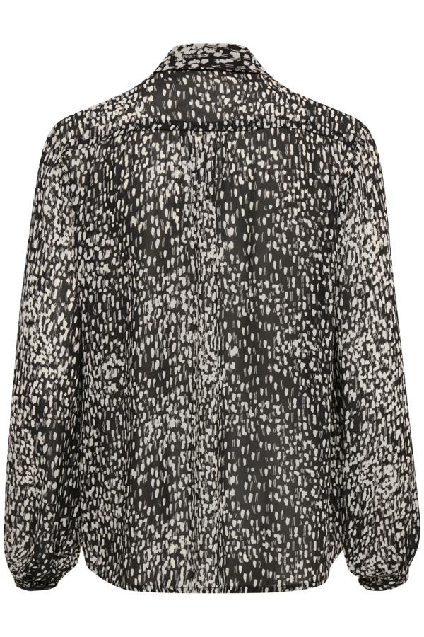 InWear BarbelIW skjorte, Black Shadow Dots, 40