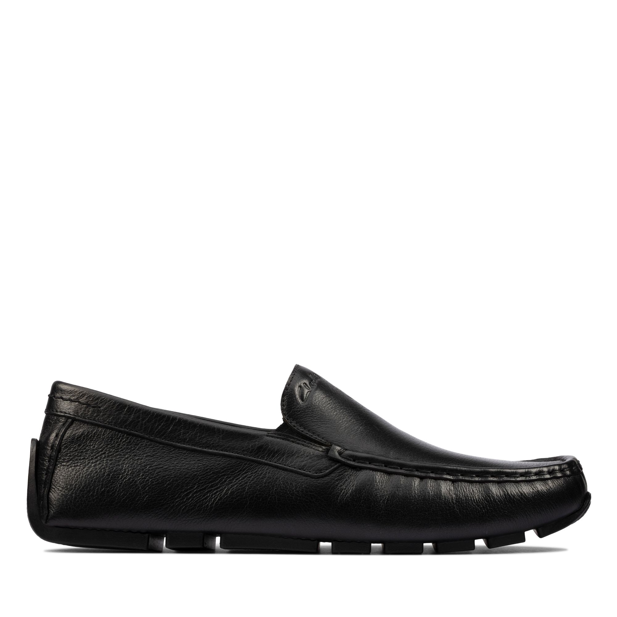 Clarks Oswick Edge Loafers, Black Leather, 42.5