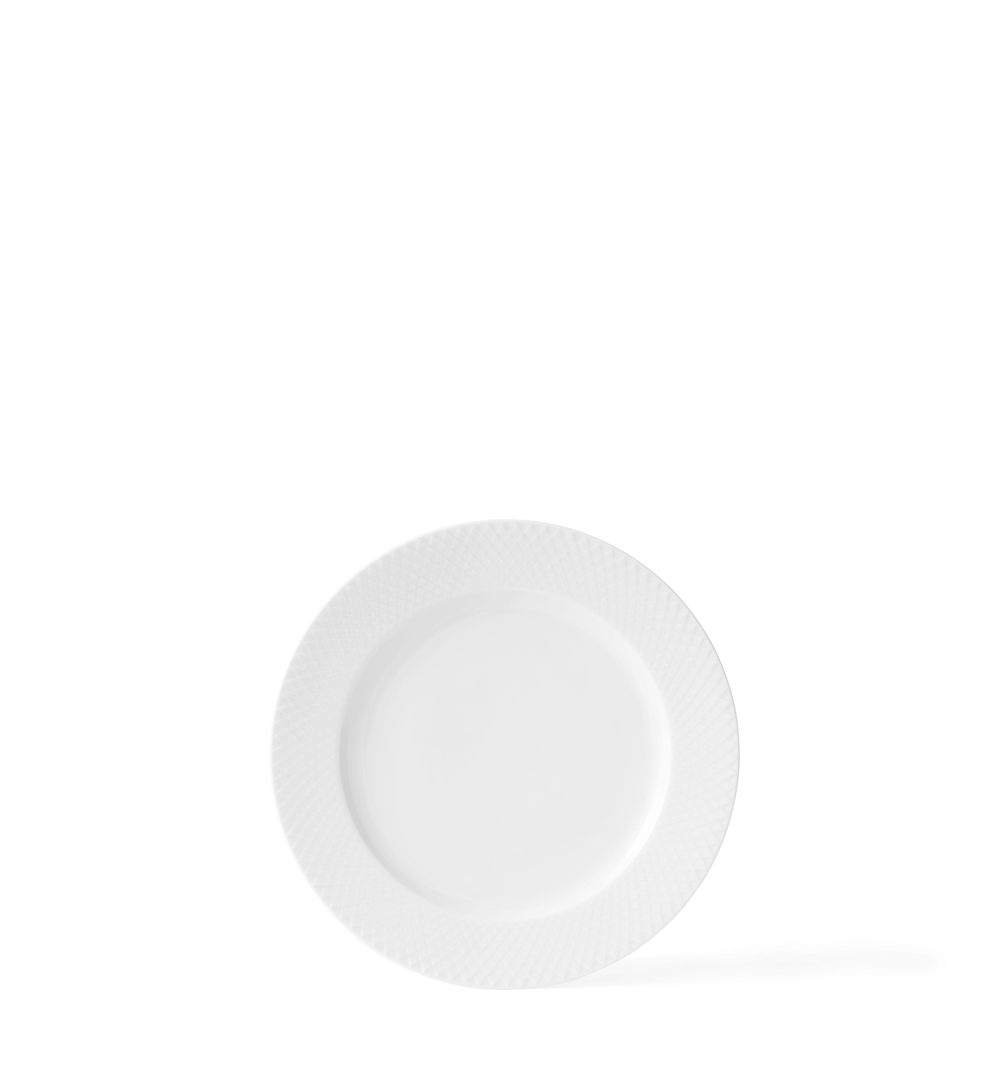 Lyngby Porcelæn Rhombe middagstallerken, Ø27 cm