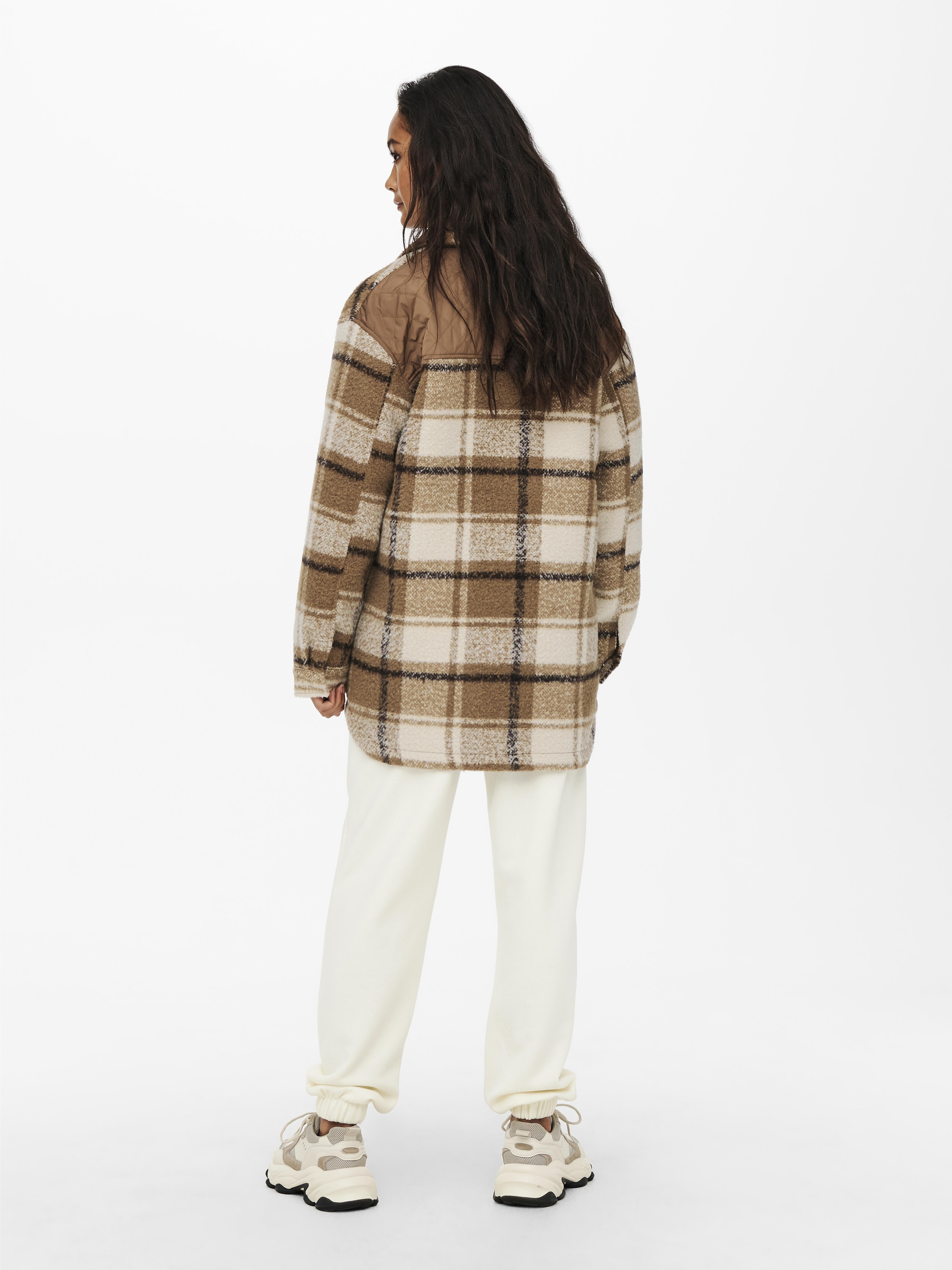 ONLY Malou Mix skjortejakke, Toasted Coconut, L