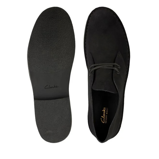 Clarks støvler, Black suede, 8