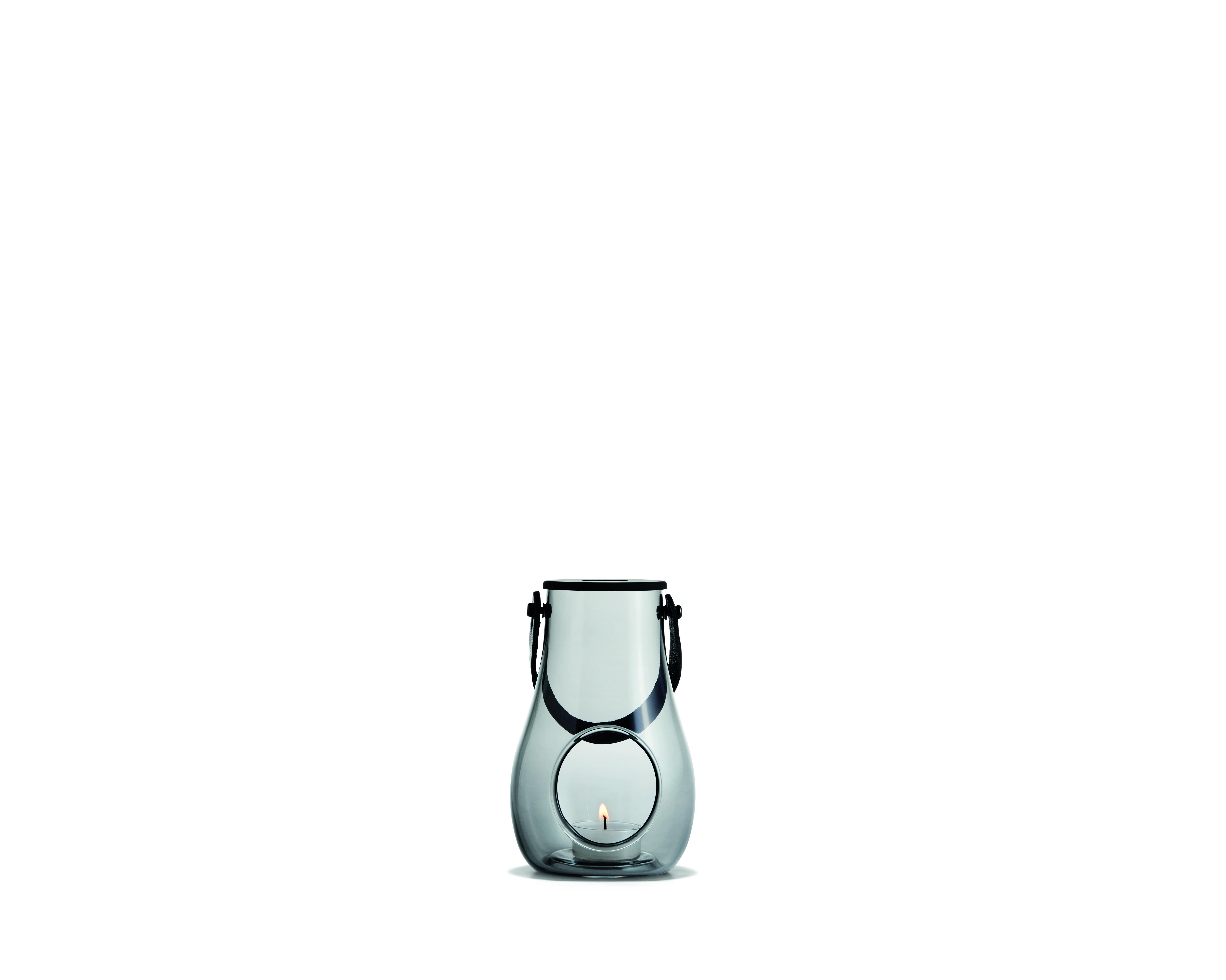 Holmegaard Design with light lanterne, 16 cm, smoke