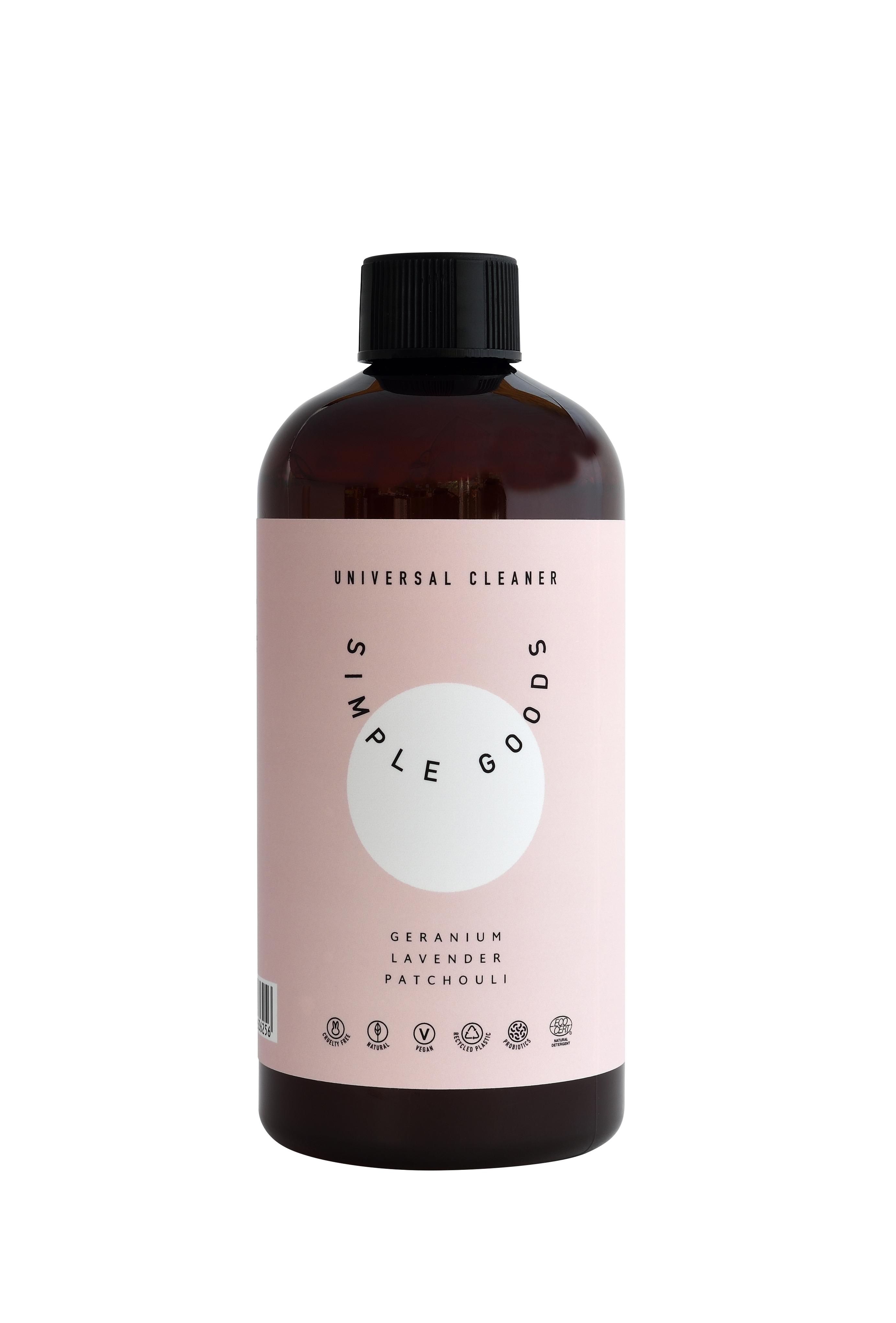 Simple Goods universal rengøringsmiddel, geranium/lavendel/patchouli, 500 ml