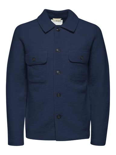 Selected Homme Strik Cardigan, Navy Blazer, XXL