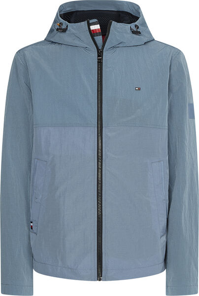 Tommy Hilfiger Lightweight Hooded jakke, colorado indigo, x-large