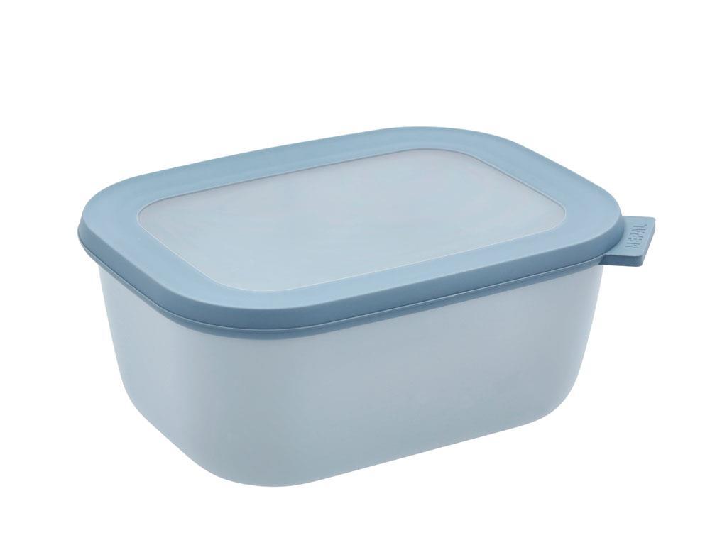 Mepal Cirqula rektangulær skål, 1500 ml, nordic blue