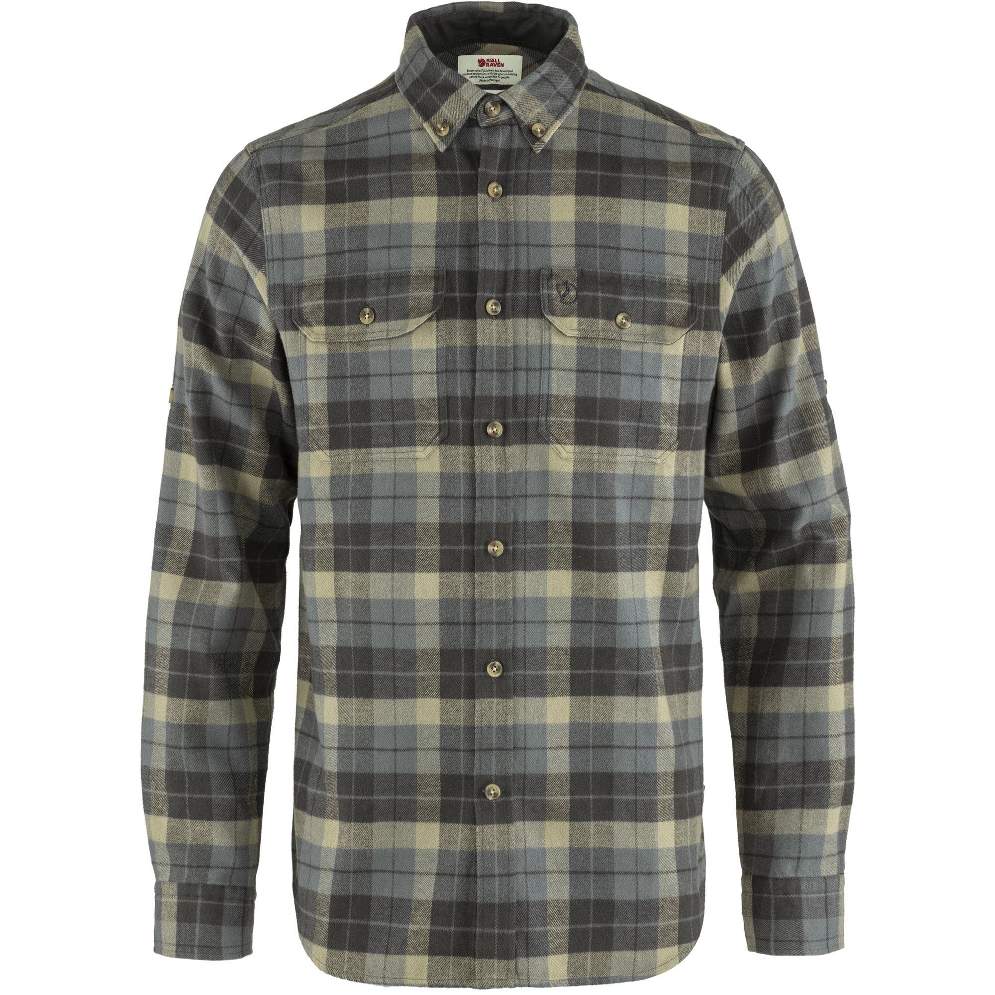 Fjällräven Singi Heavy Flannel skjorte, super grey/stone grey, medium