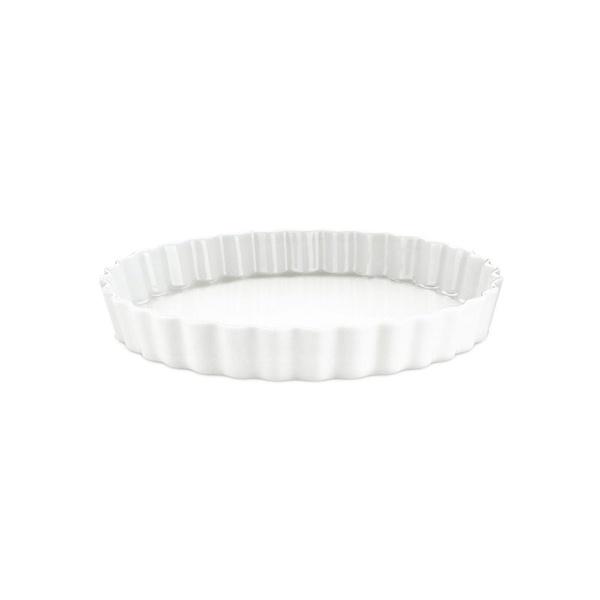 Pillivuyt tærteform nr. 7, Ø24 cm, hvid