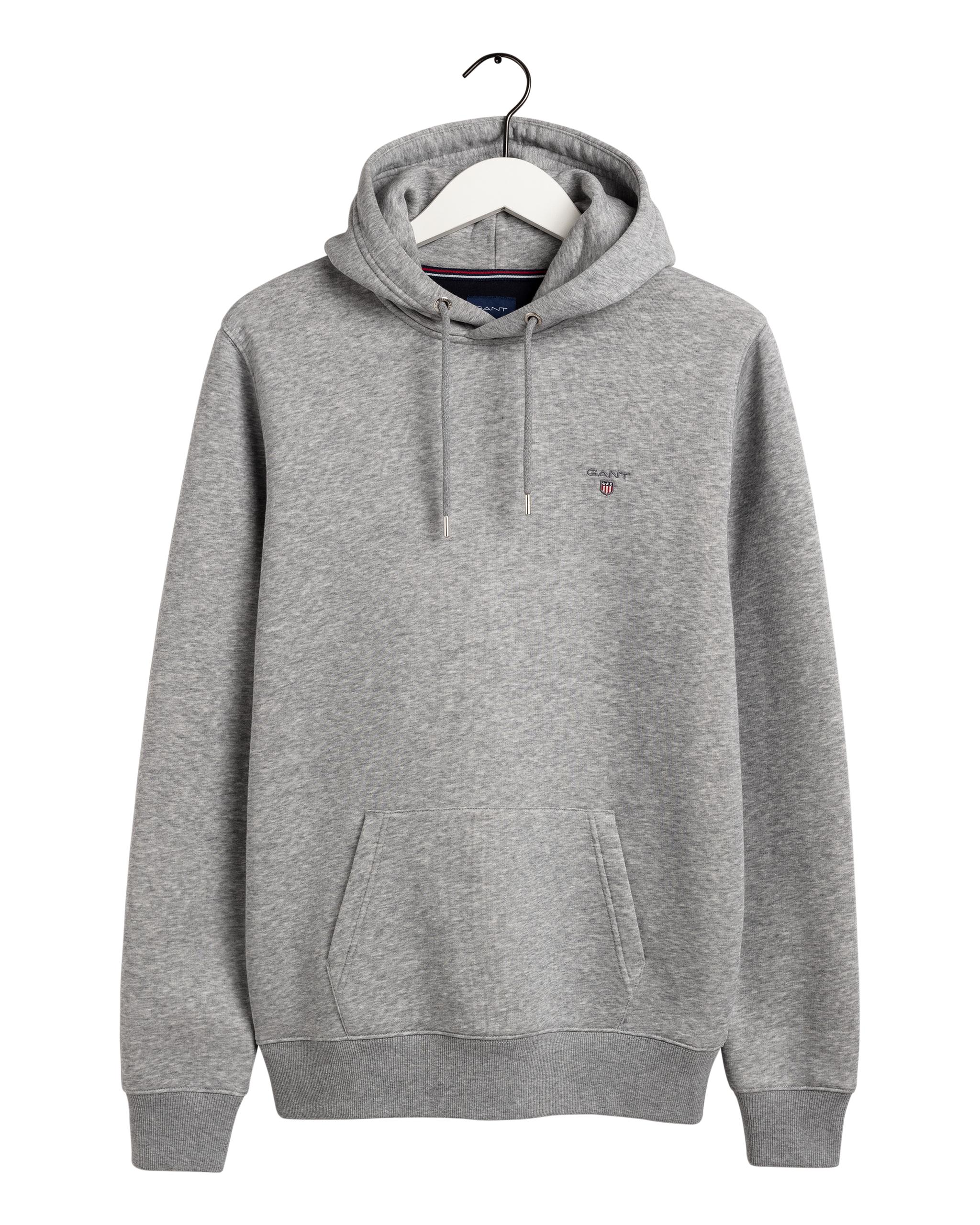 Gant Original Sweat hættetrøje, grey melange, x-large