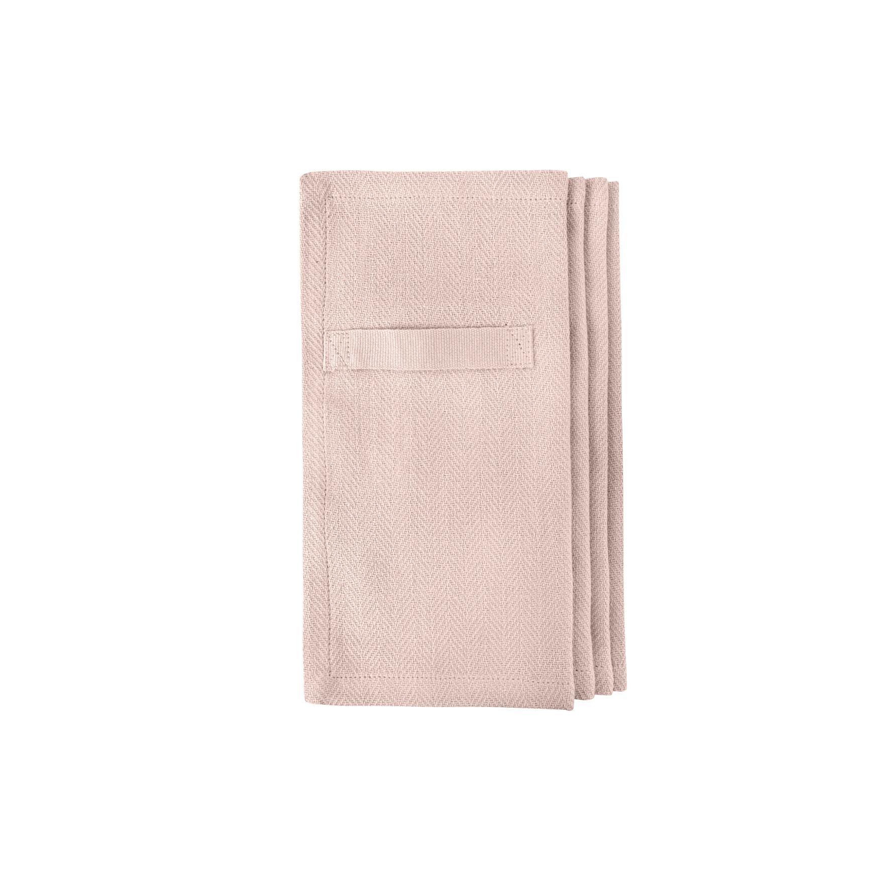 The Organic Company serviet, 20x20 cm, lys rosa, 4 stk