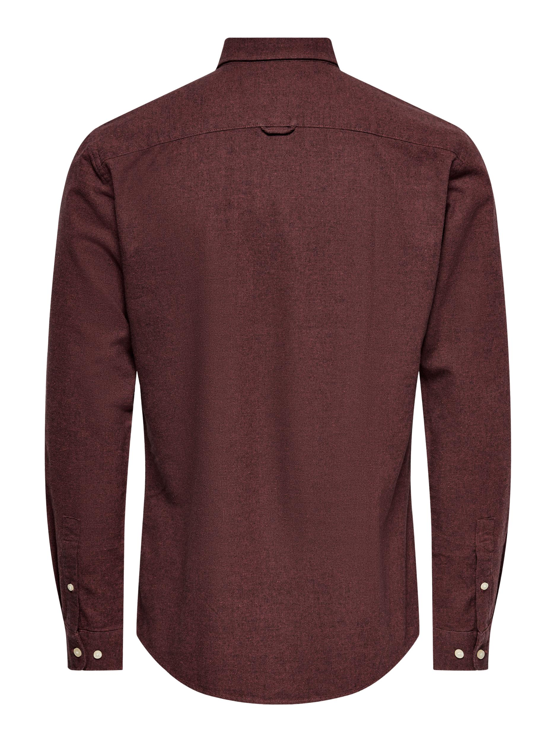 Only and Sons Niko LS skjorte, Burnt henna, XX-large