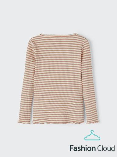 Name It Emma Langærmet T-shirt, Cafe au Lait, 86cm