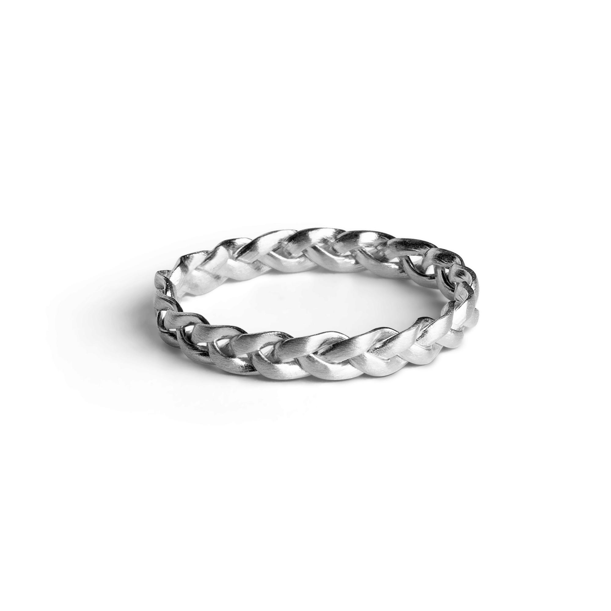 Jane Kønig small Braided ring, sølv, 58