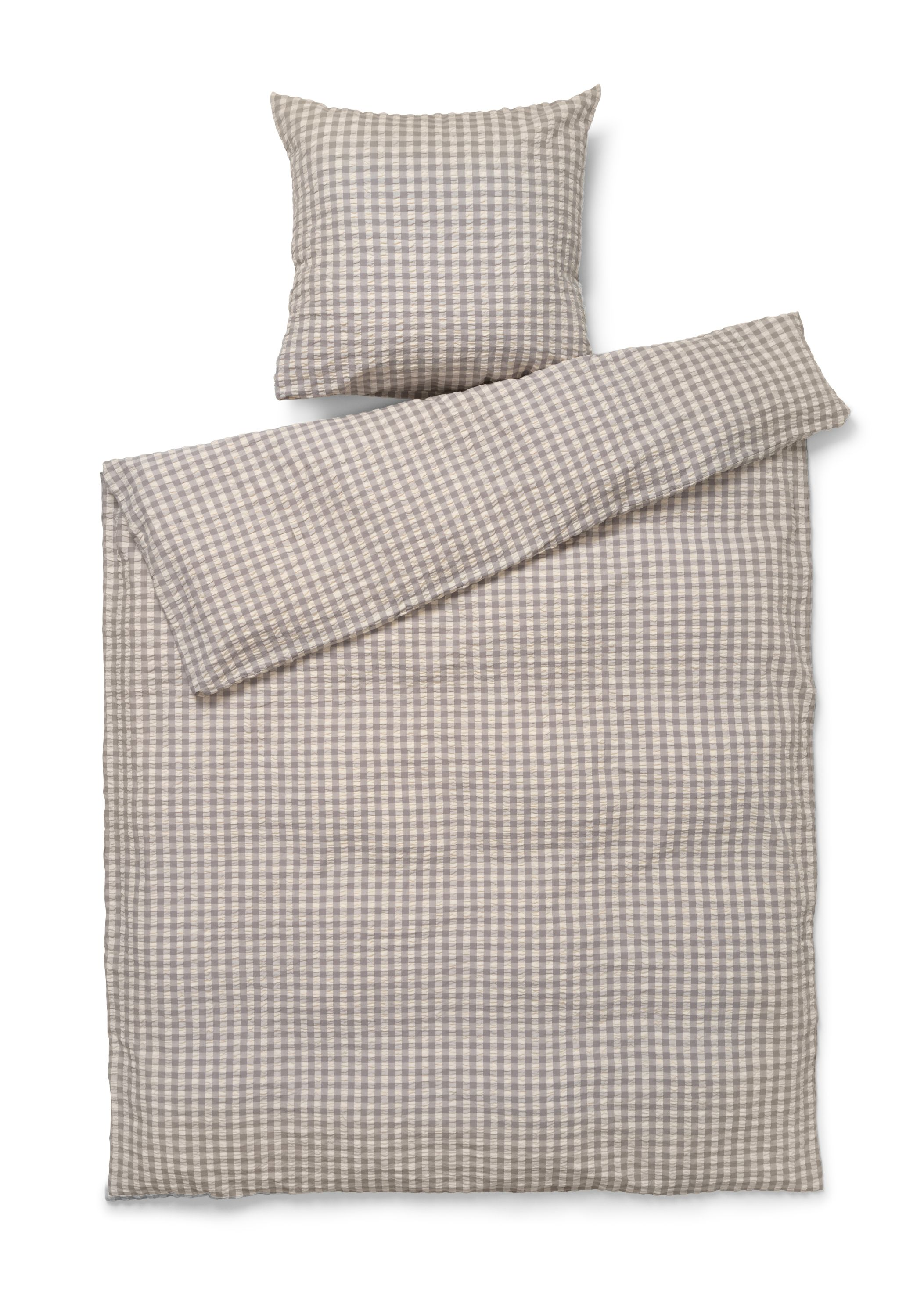 Juna Bæk&Bølge sengelinned, 140x220 cm, grå/birk