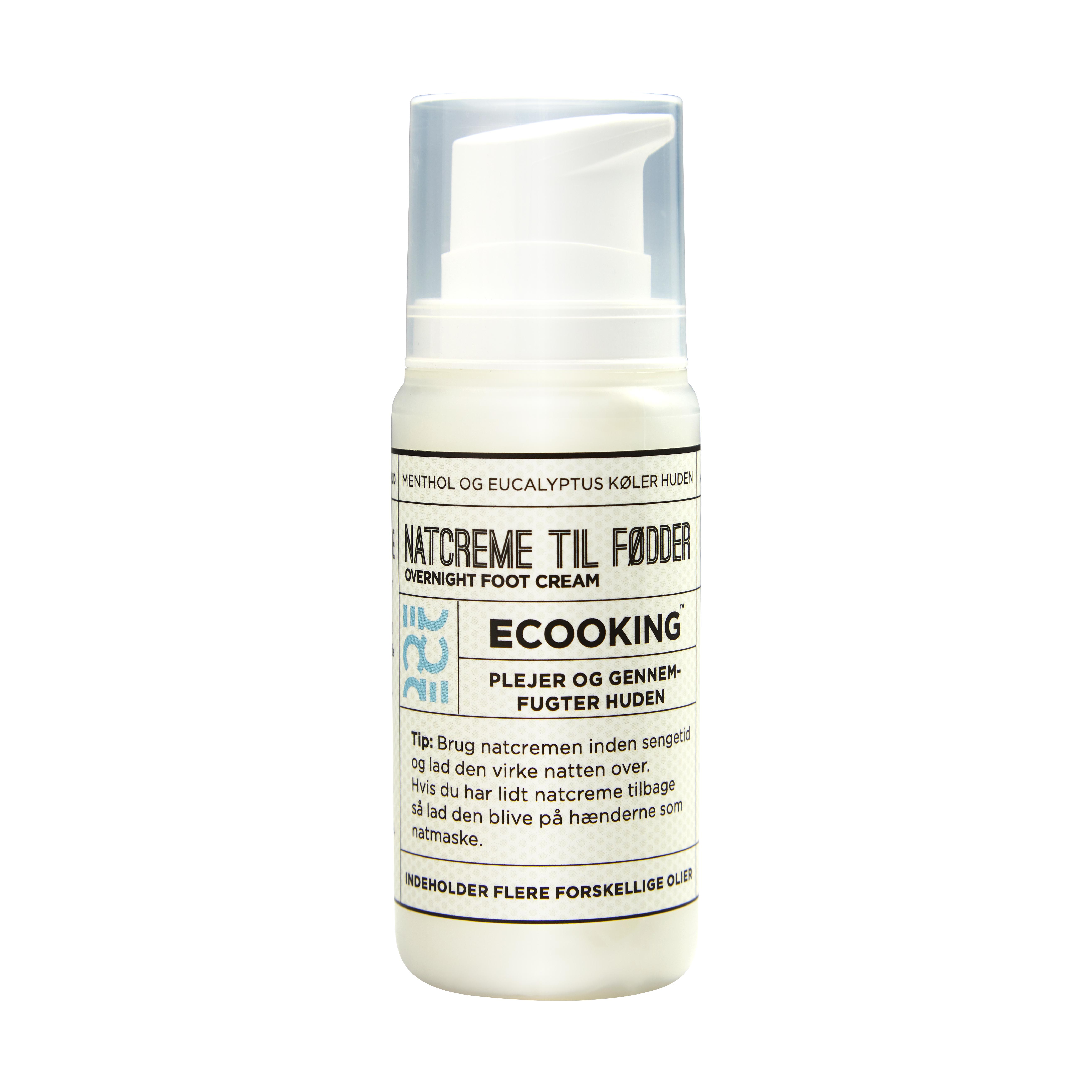 Ecooking Natcreme til Fødder, 100 ml
