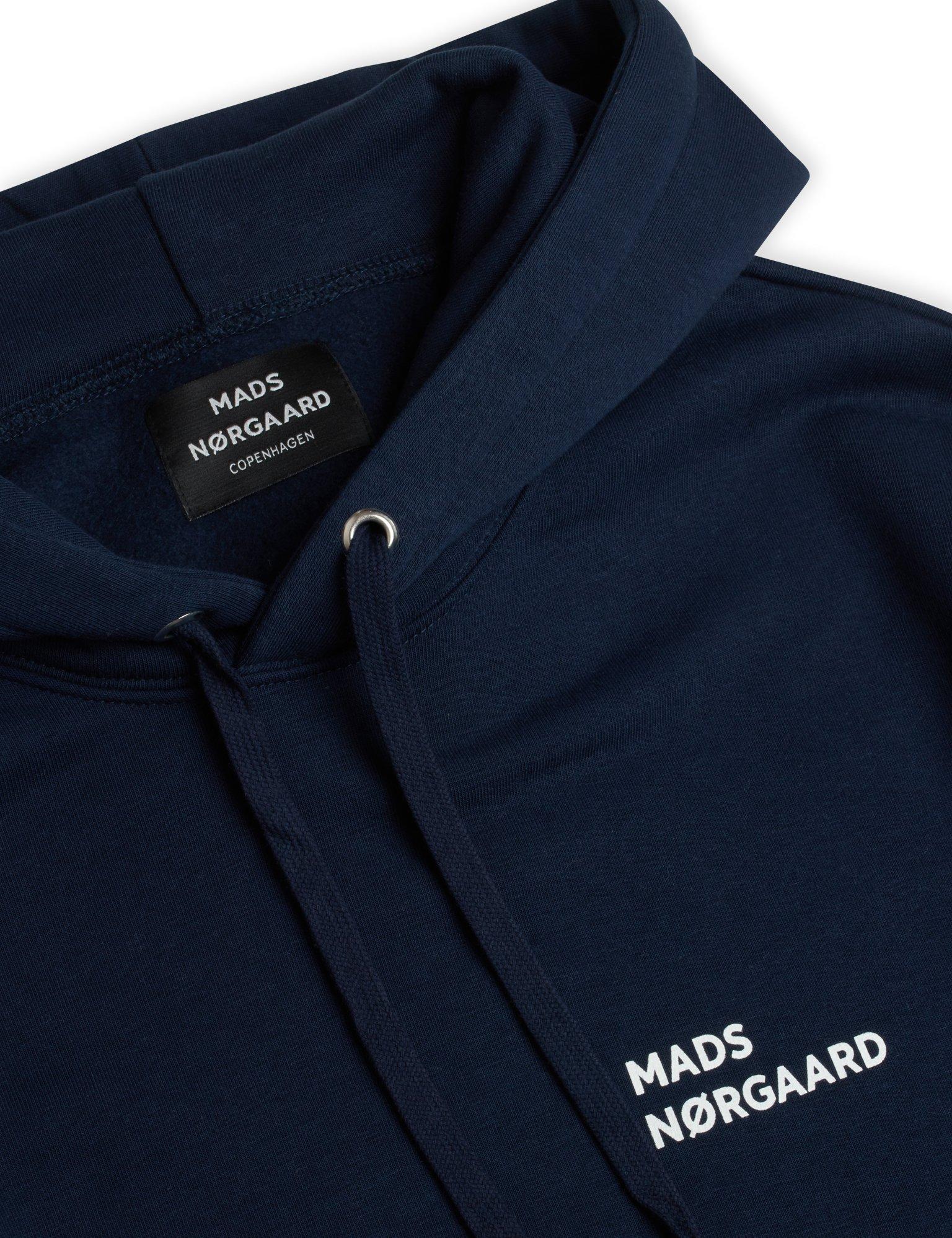 Mads Nørgaard New Standard logo hoodie, sky captain, medium
