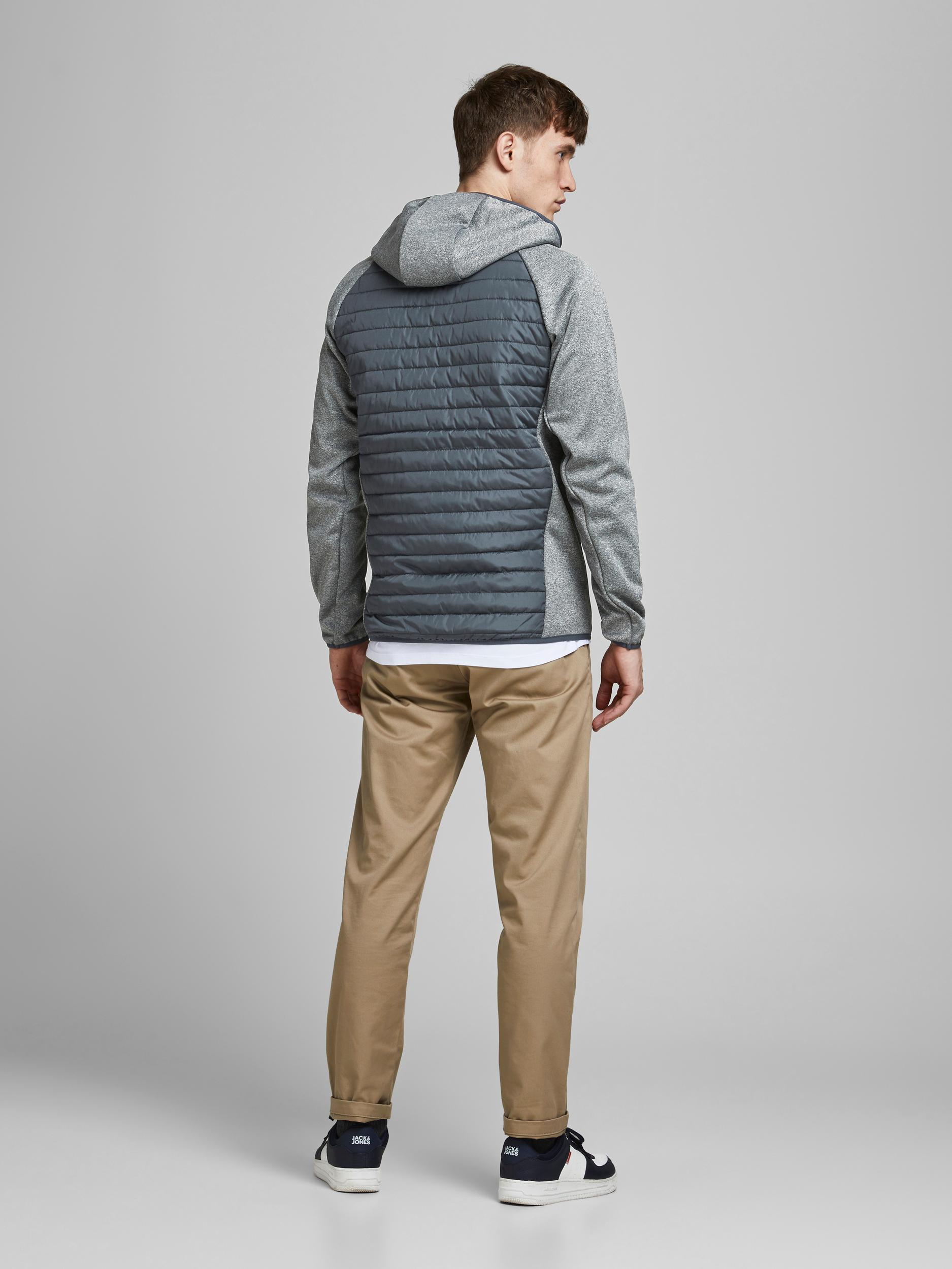 Jack & Jones Multi quilted jakke, grey melange, medium