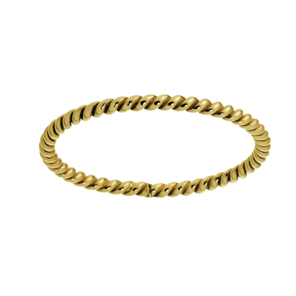 Nordahl Twisted ring, guld, 54