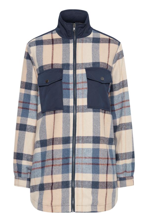 Fransa 20609868 jakke, navy blazer mix, x-large