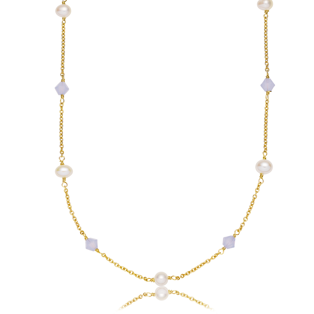 SISTIE Oliva halskæde, guld