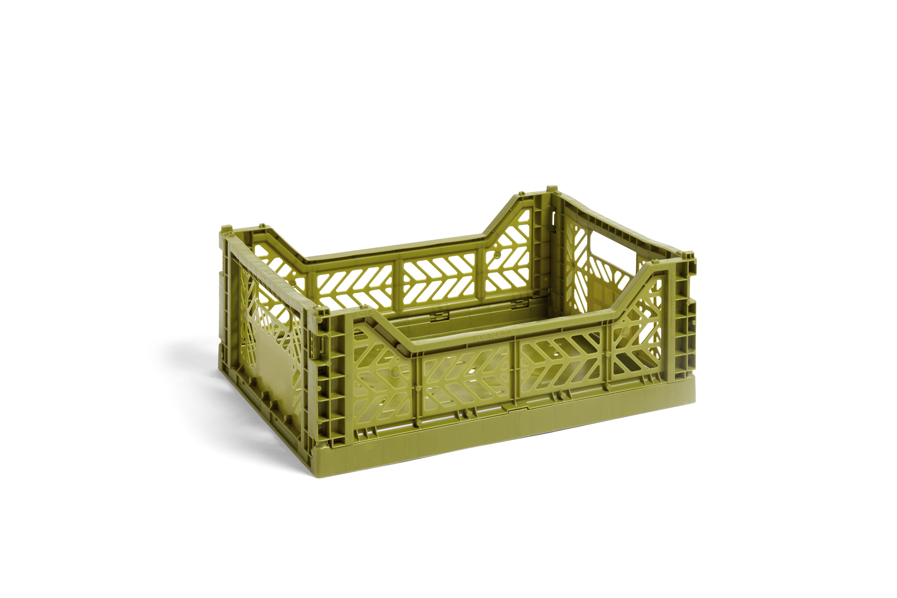 HAY Colour Crate kasse, medium, olive