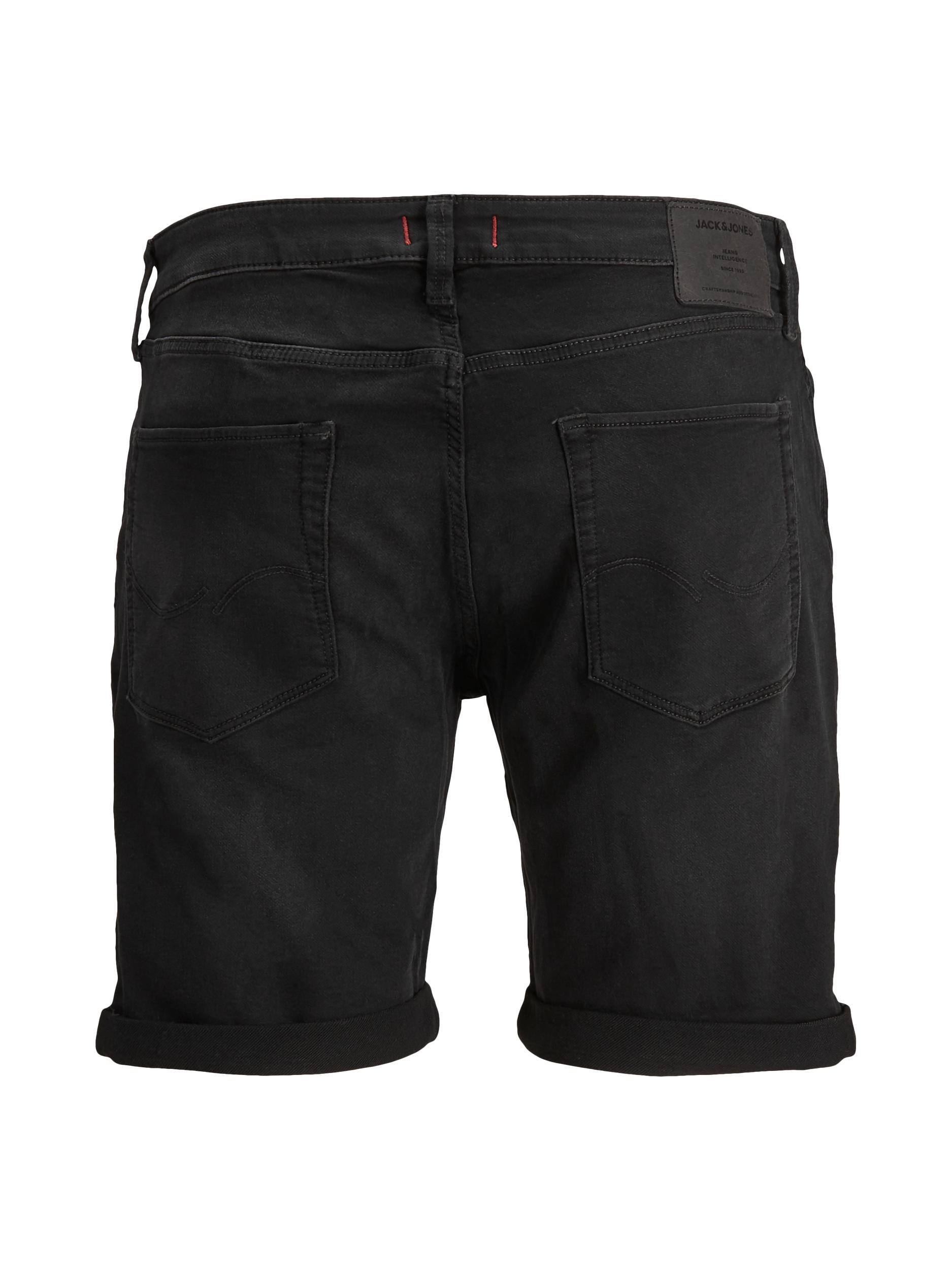 Jack & Jones Rick Icon shorts, black denim, medium