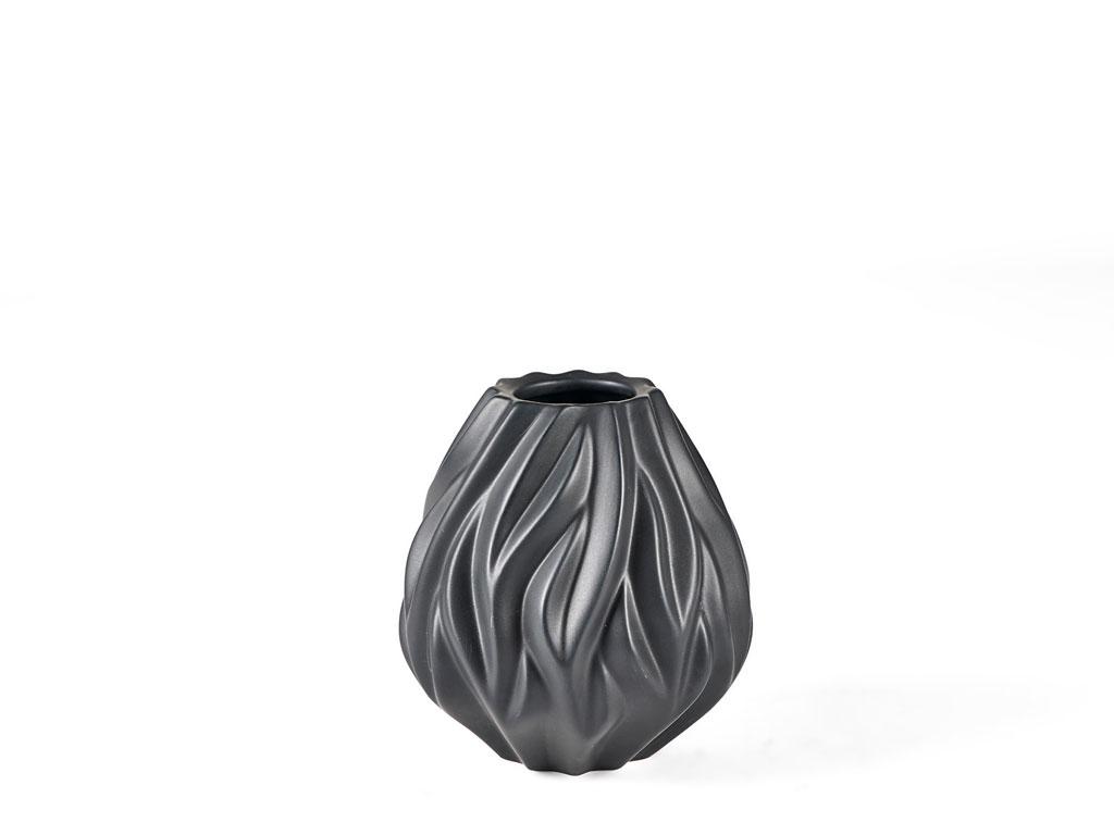 Morsø Flame vase, 15 cm, sort