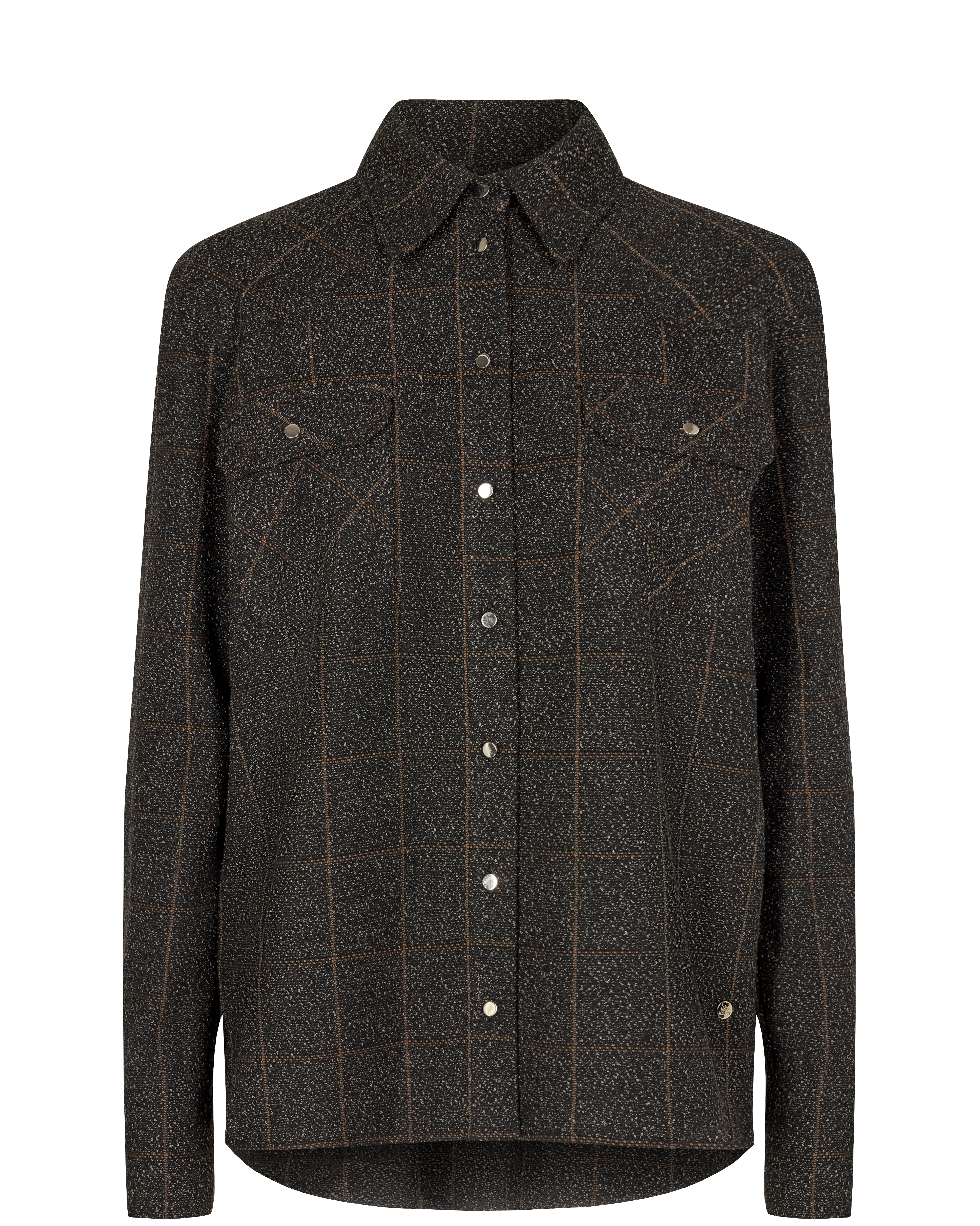 Mos Mosh Billy Boucle Shirt, chocolate chip, large
