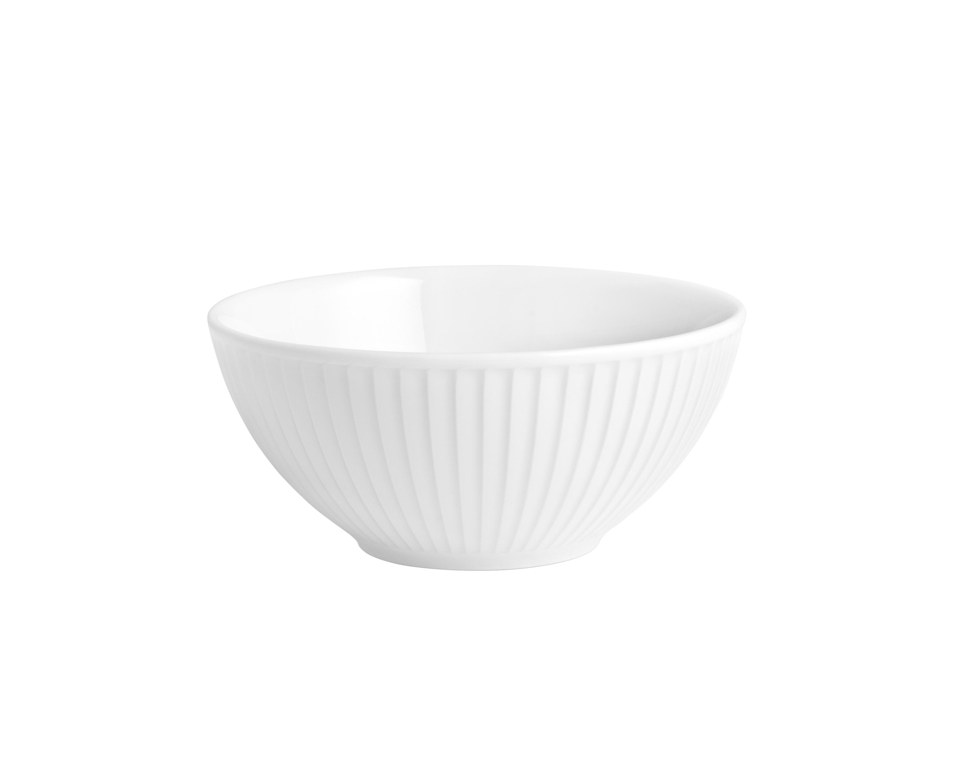 Pillivuyt Plissé skål, Ø12 cm, hvid