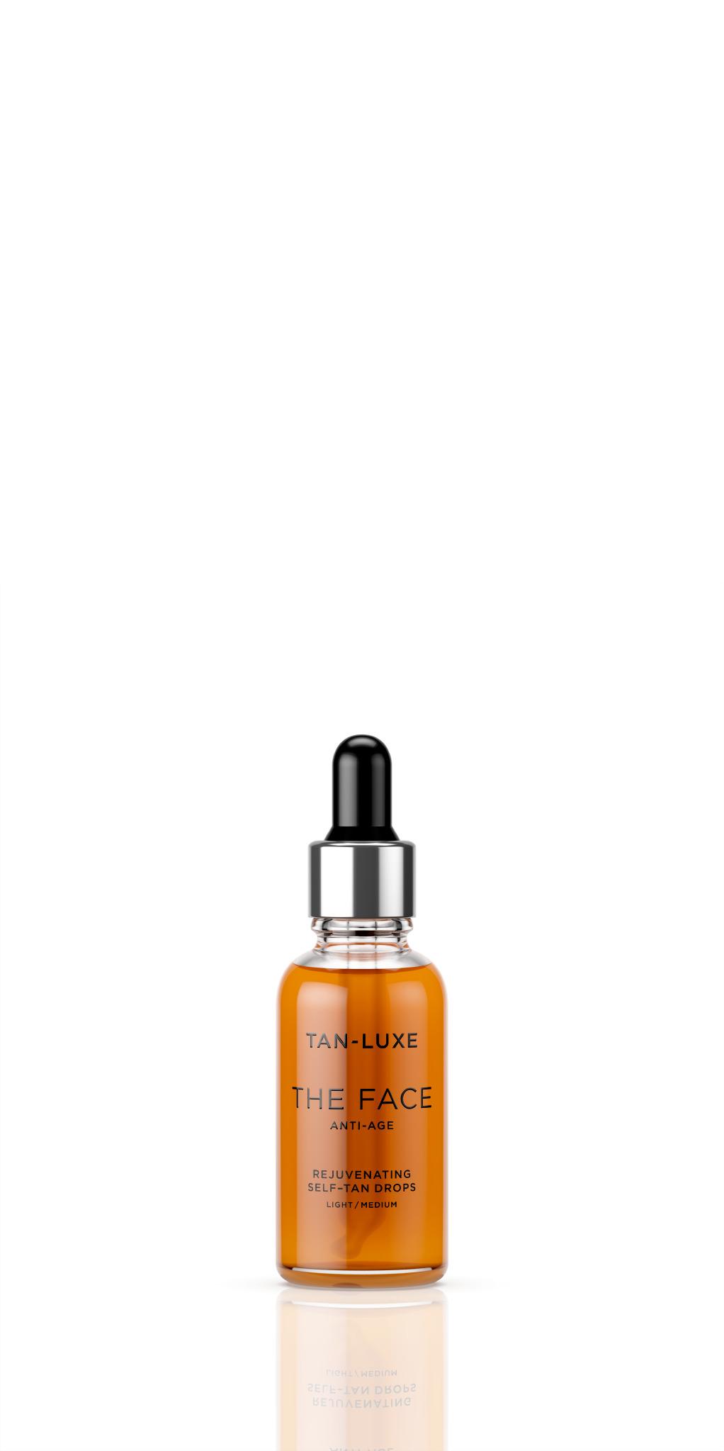 Tan Luxe The Face anti-age selvbruner dråber, 30 ml, light/medium