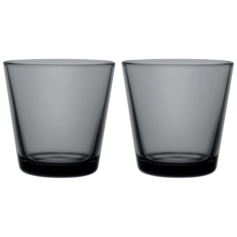Iittala Kartio 2stk glas, Mørke grå, 21 cl