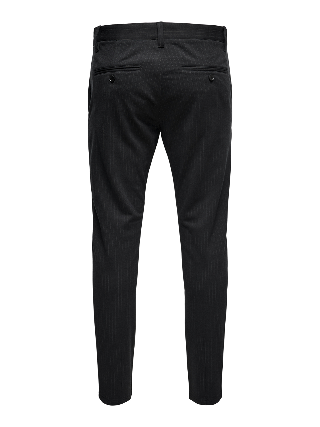 Performance Pants, Only & Sons, Mark striped chinos, black, 31/34