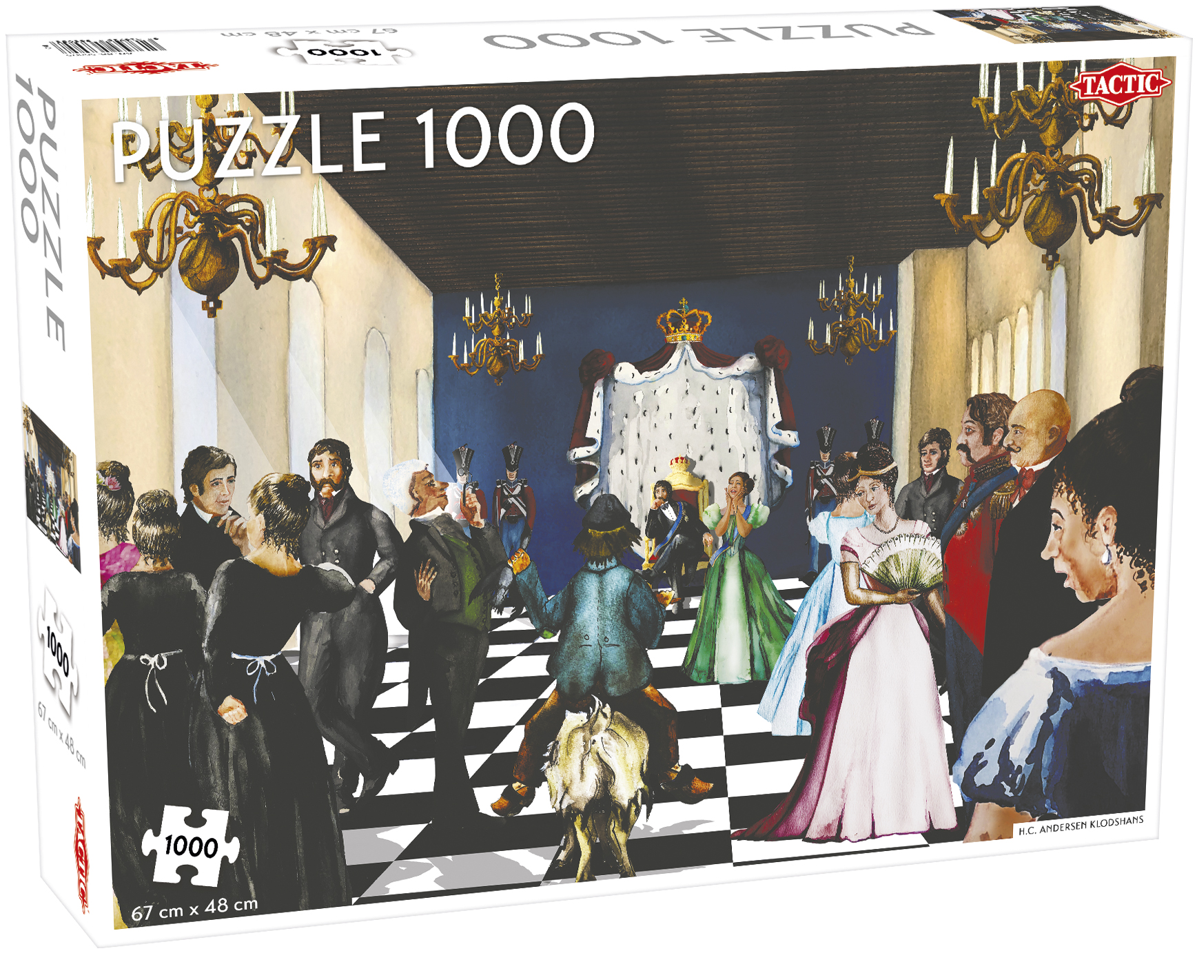 Tactic Puslespil, H. C. Andersens Klodshans, 1000 brikker