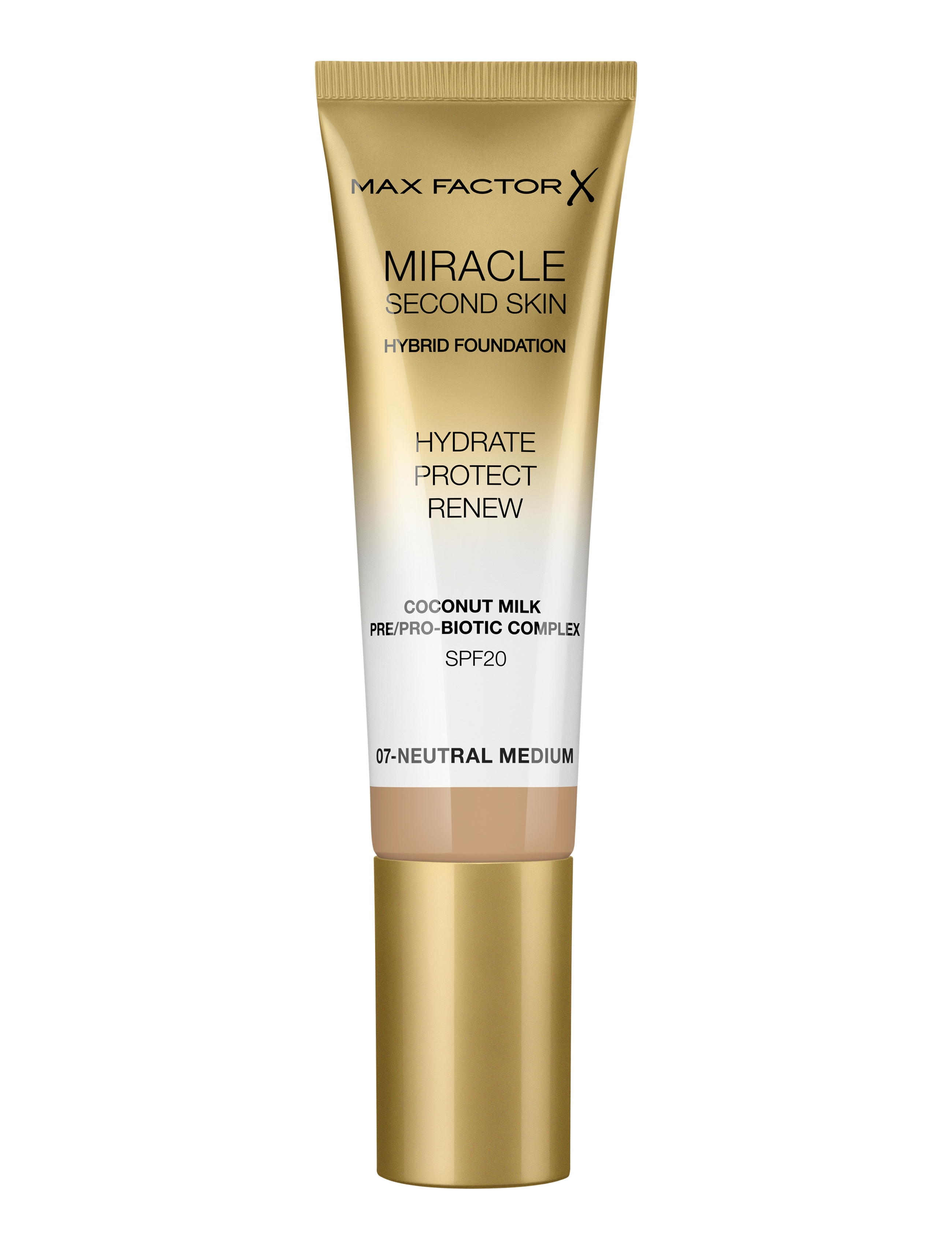 Max Factor Miracle Second Foundation, 07 neutral medium