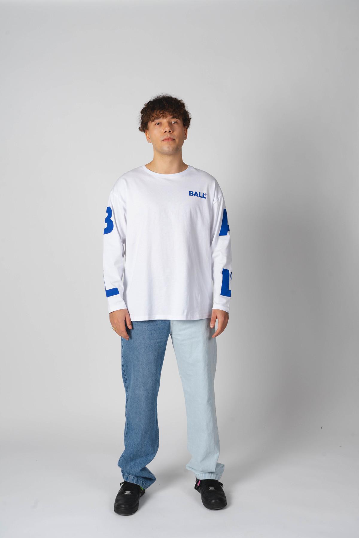 BALL Original LS Tee langærmet t-shirt, optical white, XS