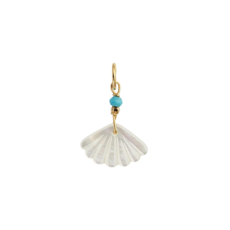 Stine A hvid Seashell vedhæng