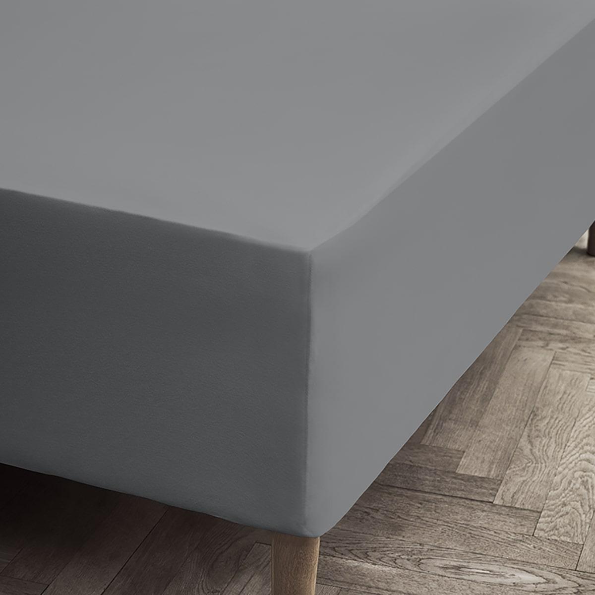 Juna Jersey stræklagen, 45x180x200 cm, grey