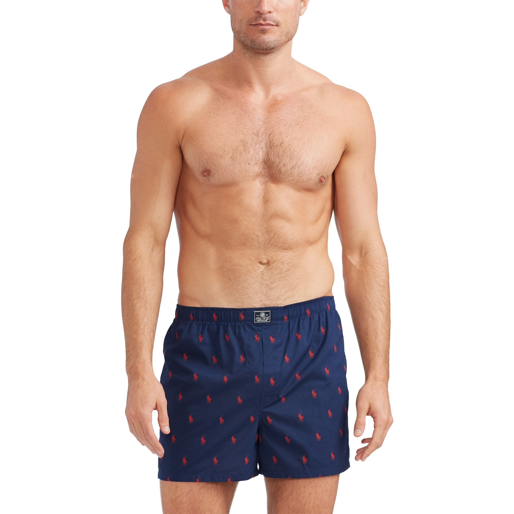 Ralph Lauren 3-pak boxershorts, mad strp/jms pld/crs nvy, large