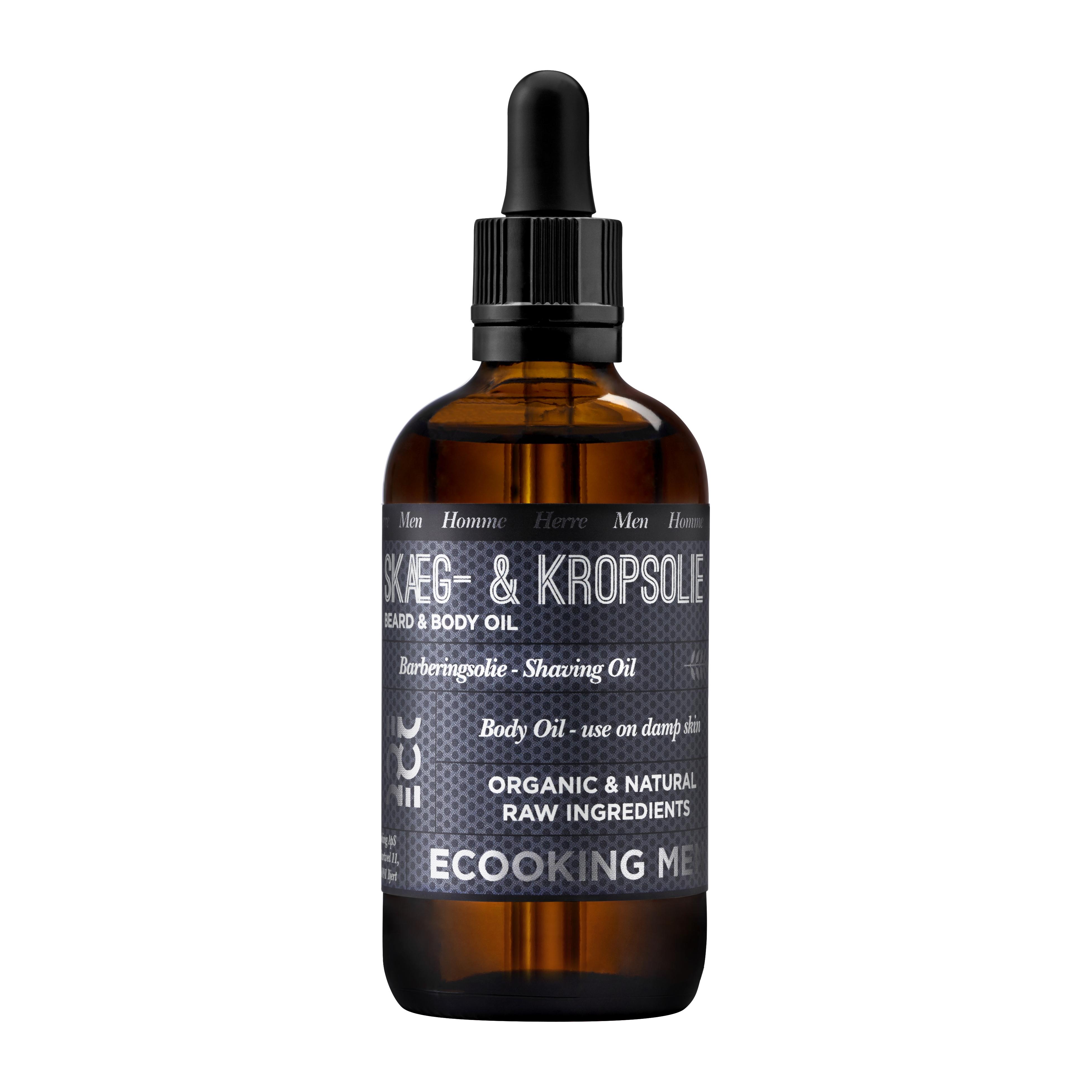 Ecooking Men Skæg- & Kropsolie, 100 ml