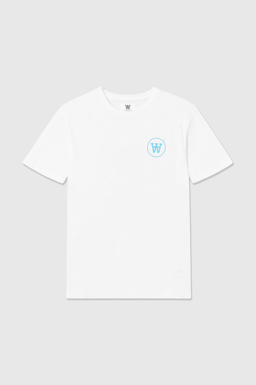 Wood Wood Ace t-shirt, white/blue, x-small
