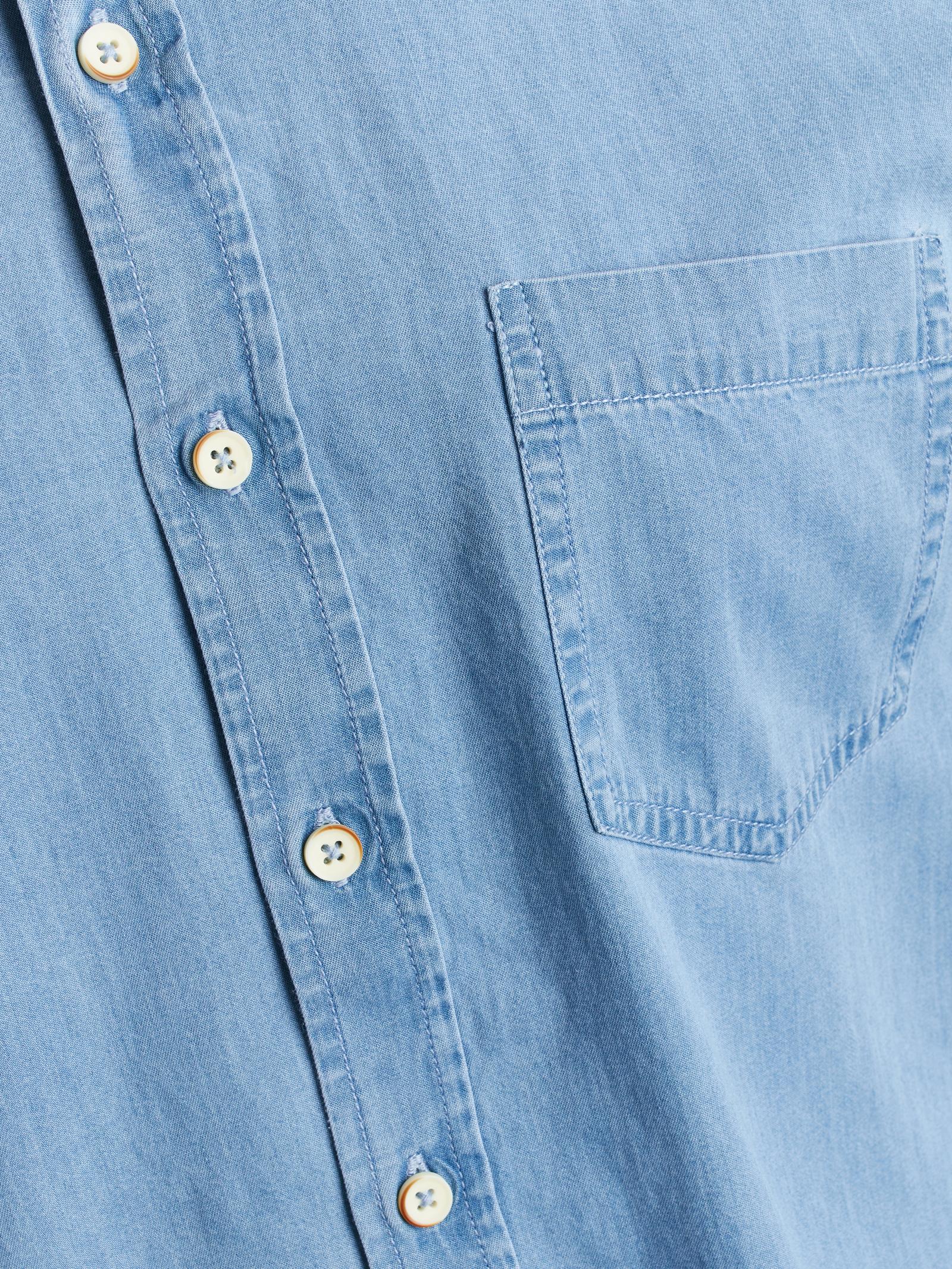 Signal Newman Denim Skjorte, Soft Blue, 3XL