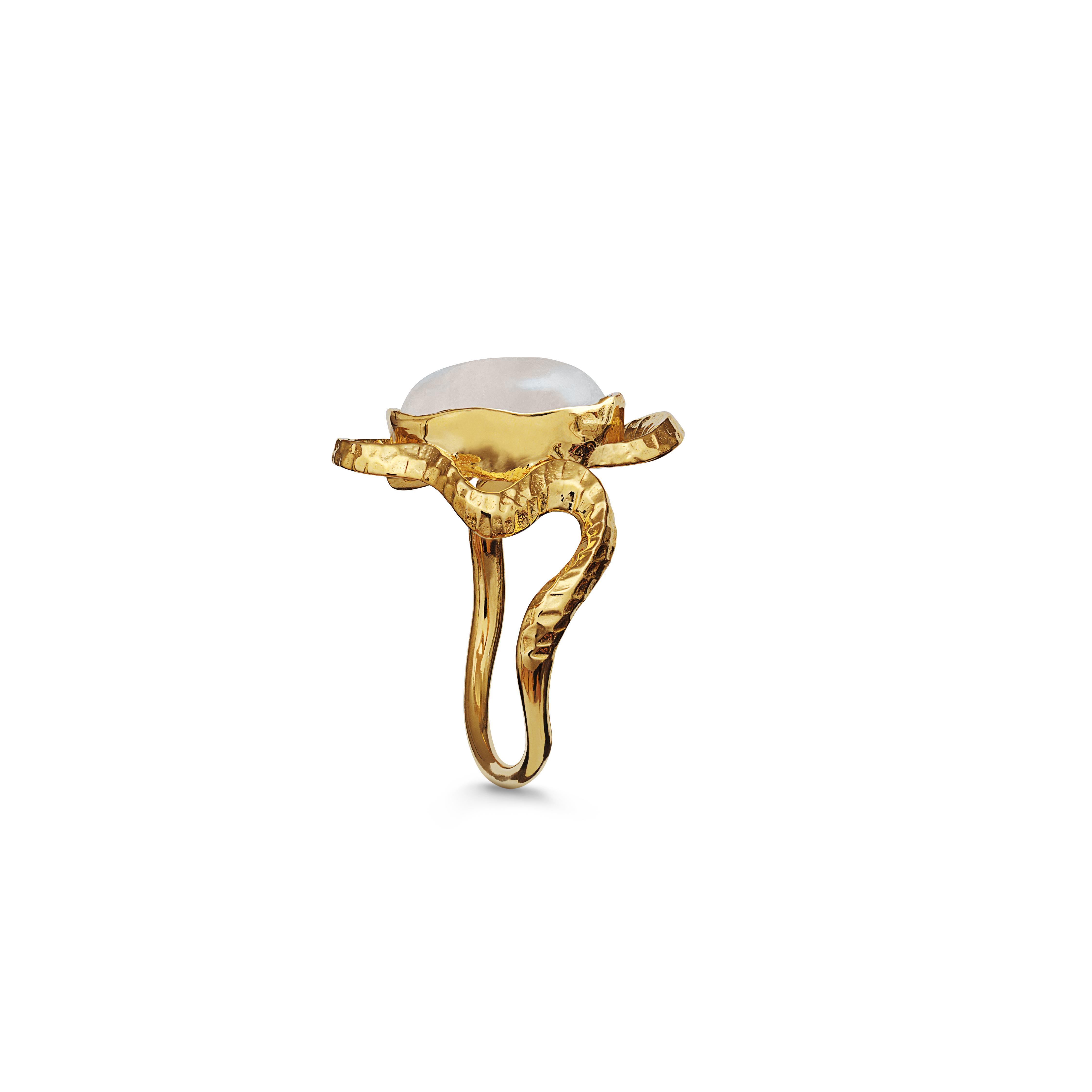 Maanesten Siren ring, guld, 51