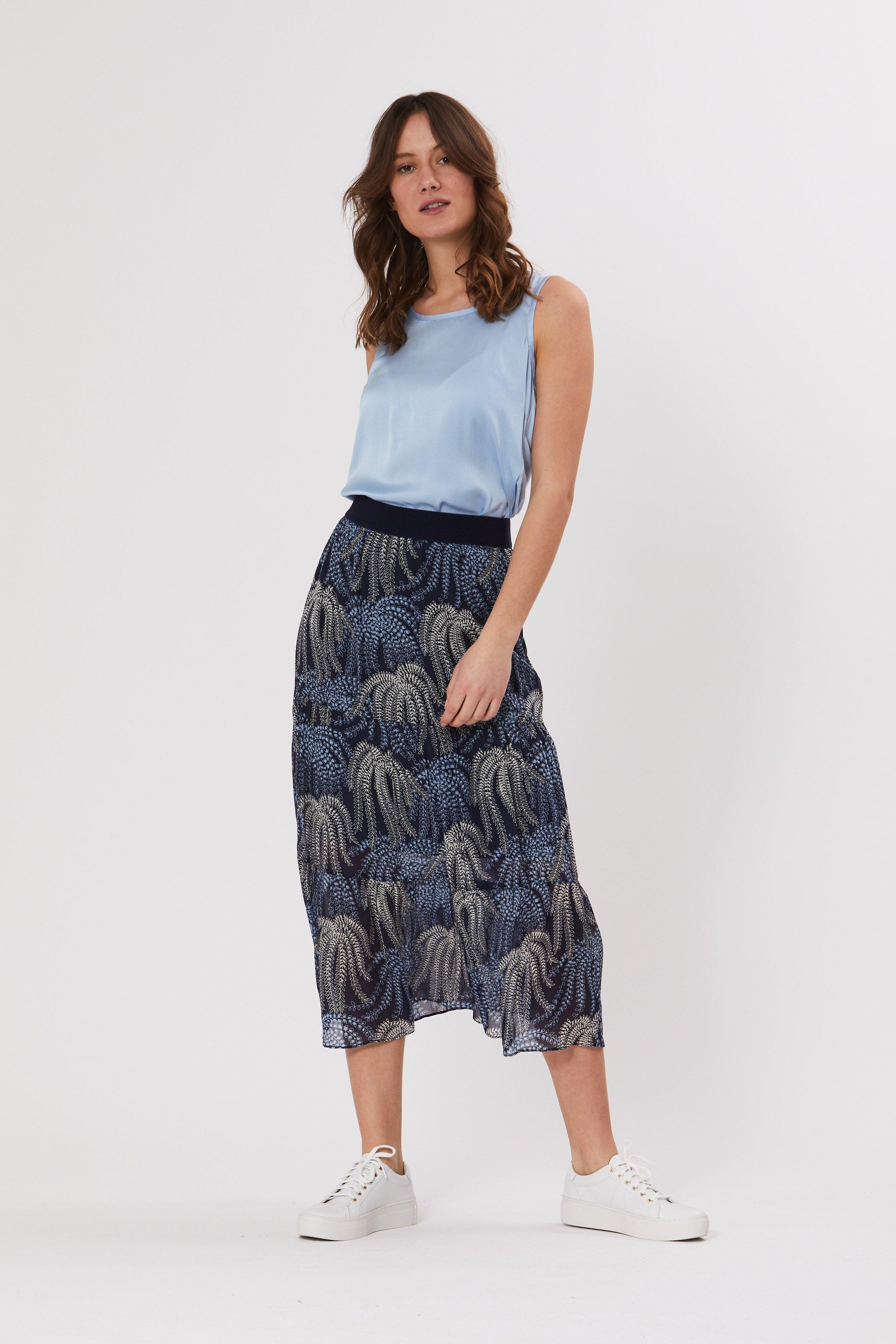 PBO Zeus nederdel, blue multi color, 38