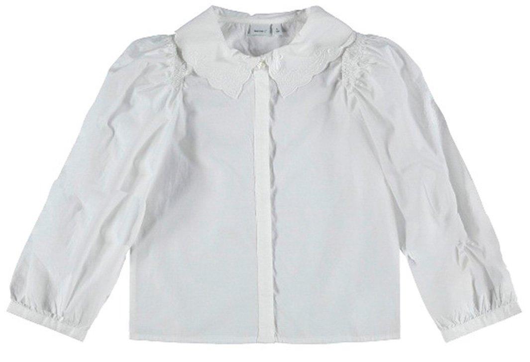 Name It Bodil skjorte, bright white, 134 cm
