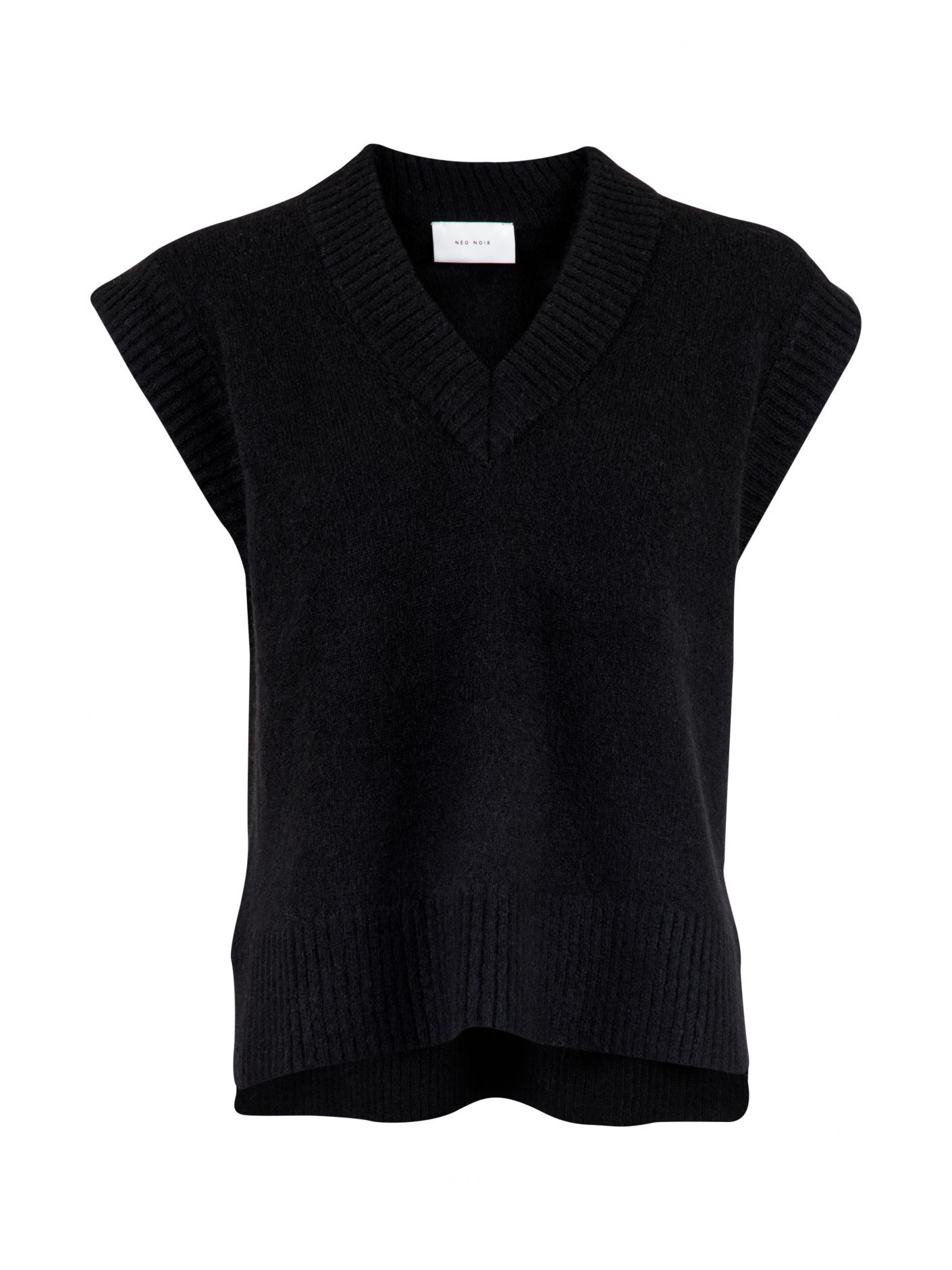 Neo Noir Kaylee strik vest, black, x-small