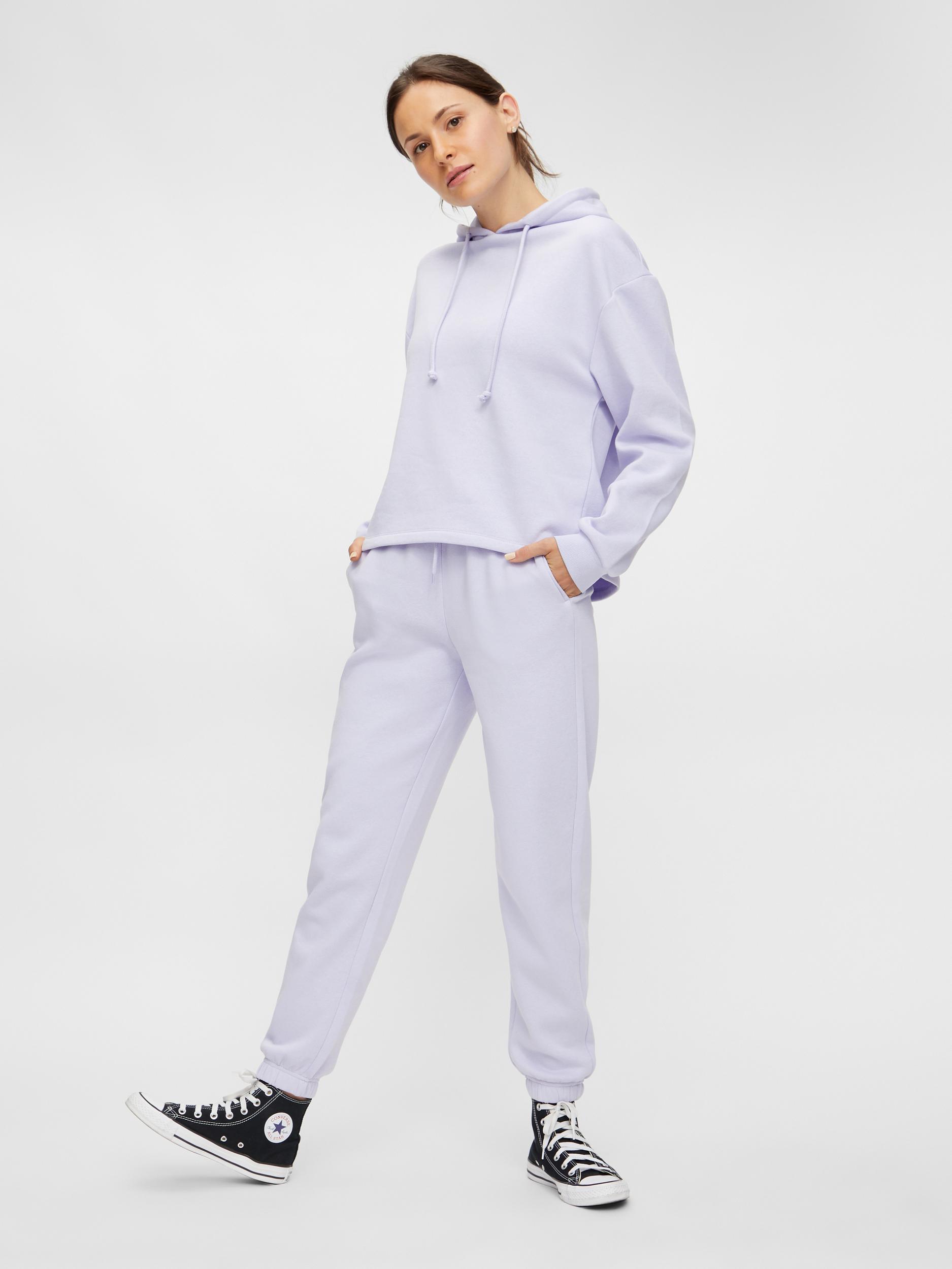 Pieces Chilli sweatpants, purple heather, medium