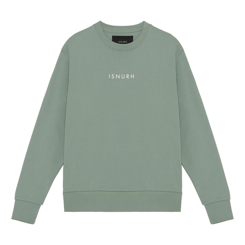 ISNURH Small Logo sweatshirt, iceberg green, small